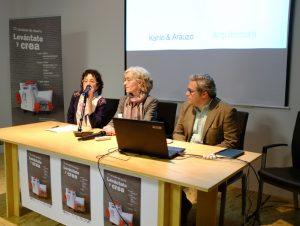 Kahle & Arauzo durante la ponencia sobre Arquitectura