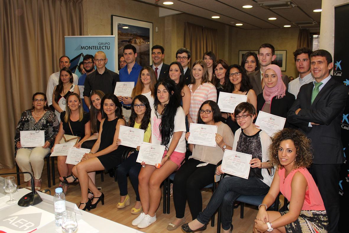 Todos los alumnos premiados en los Premios AER 2014