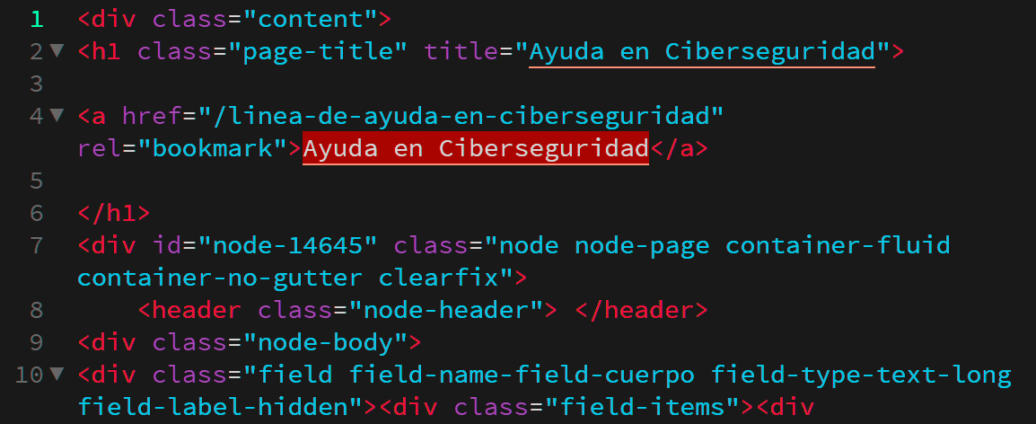 código fuente Grado medio interactivo